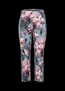 Slim-fit-Hose mit Blumenmuster