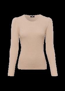Pullover aus weichem Rippstrick