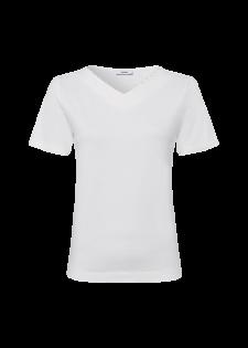 T-Shirt mit Perlenbesatz am Ausschnitt