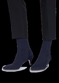 Sock Boots Stiefeletten mit Pfennigabsatz