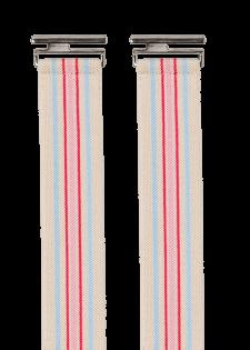 Gestreifter Stretchgürtel im Vintage-Look
