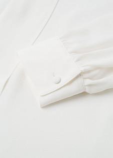 Bluse mit Schleifenbändern