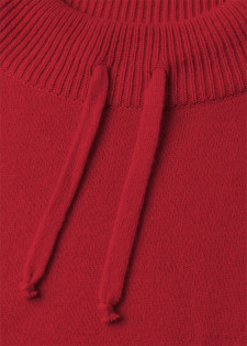 Cashmere pullover with a drawstring