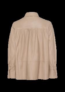 Lederhemd mit Bischofsärmeln