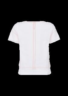 T-Shirt mit Mesh und Rüschen
