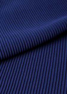 Kastiger Pullover mit Ripp-Dekor