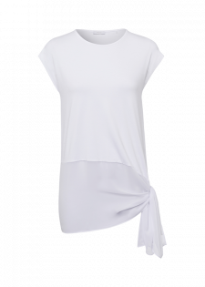 T-Shirt mit Volant